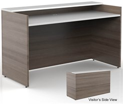 6'W Classic Custom Standing Height Reception Desk
