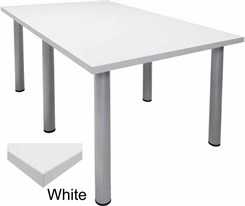 6' x 4' White Conference Table