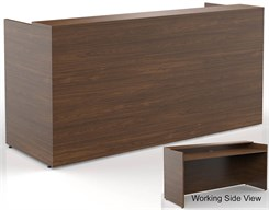7'W Classic Custom Standing Height Reception Desk