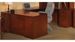 "72""W Executive ""U"" Straight Front Desk with Right Bridge - PBF/FF"