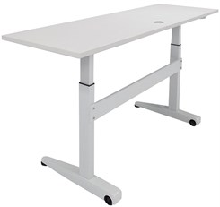 "72"" x 24"" Pneumatic Height Adjustable Mobile Table"