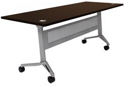 "72"" x 28"" Flip & Stow Training Table w/Privacy Panel"