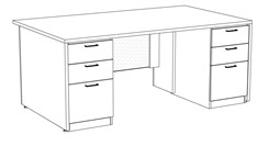 "Prestige Custom 72"" x 42"" Executive Desk"