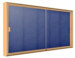"72""W x 48""H Sliding Door Wall  Mount Display"