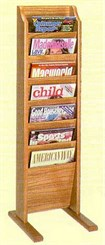 7 Pocket Freestanding Magazine Rack