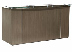 Custom 7'W Standing Height Glass Top Reception Desk