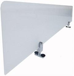 "63""W Acrylic Divider w/Two Double-Sided Mounting Brackets"