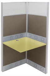 "36""W x 24""D x 67""H Premium Series Add-On Carrel"