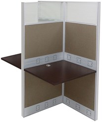 "36""W x 50""D x 67""H Premium Series Double Add-On Carrel"