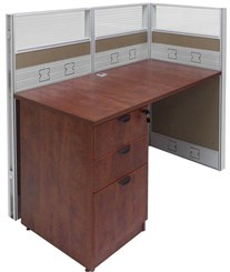 "48""W x 24""D x 48""H Premium Add-On Cubicle w/File"