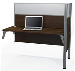 1-Person Add-on Cubicle Workstation w/ Windows
