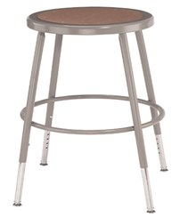 "Adjustable Height Heavy-Duty Lab & Shop Stools - 19""-27""H Lab Stool - 300-lb Weight Capacity"