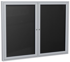 "Aluminum Frame Enclosed Letter Board - 48"" X 36"" 2 Door"