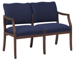 Franklin 2 Seat Loveseat in Standard Fabric or Vinyl