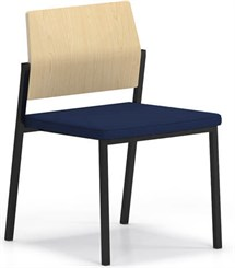 Avon Plywood Back / Fabric Seat Stackable Armless Chair - Standard Fabric or Vinyl