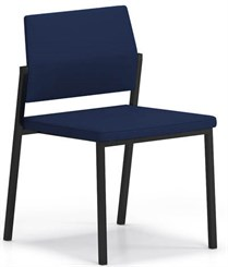 Avon Fully Upholstered Stackable Armless Chair - Standard Fabric or Vinyl