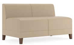 Fremont 500 lbs Armless Loveseat in Standard Fabric or Vinyl