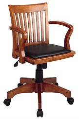 Banker's Chair w/Padded Seat