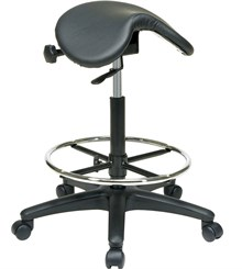 "Saddle Seat Stool w/ 25""-35"" Height"