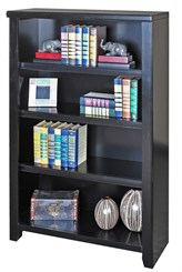 "48""H Black Bookcase"