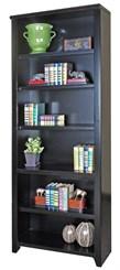 "84""H Black Bookcase"