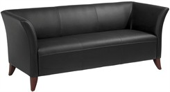 Office Star SL15 Series Black Faux Leather Sofa