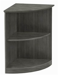 Medina 2-Shelf 1/4 Round Bookcase