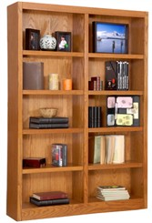 "72""H x 48""W Oak  Veneer Bookcase"