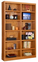 "84""H x 48""W Oak  Veneer Bookcase"