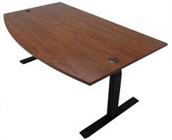 "72""W x 41""D Conference Bow Top Electric Lift Height Adjustable Table"