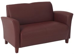 Office Star Breeze-Wine Eco Leather Love Seat