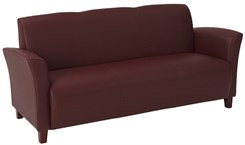 Office Star Breeze-Wine Eco Leather Sofa