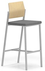 Avon Bar Height Cafe Stool w/ Plywood Back & Upholstered Seat in Upgrade Fabric or Healthcare Vinyl