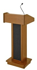 C.E.O. Solid Hardwood Lectern w/Sound System