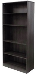 Charcoal 5-Shelf Office Bookcase