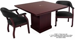 4' Dark Cherry Veneer Conference Table/Adder