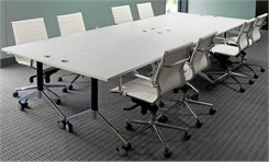 "56"" x 144"" Modular Flip Top Conference Table"