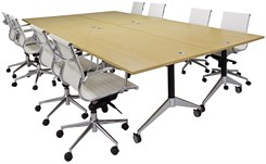 "72"" x 144"" Modular Flip Top Conference Table"