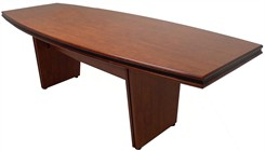 "48"" x 108"" Custom Boat Shaped Conference Table"