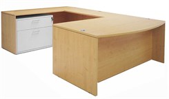Maple Bow Front Conference U-Desk