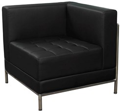 Black Tufted Modular Corner Chair