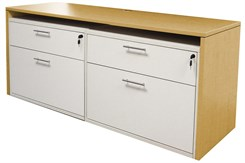 "71"" Credenza w/Two White Box/Lateral Files"