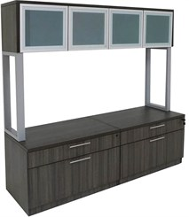 TrendSpaces Storage Credenza w/Hutch