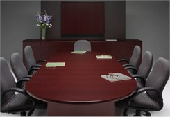 "Custom Oval Racetrack Conference Tables - 96"" x 42"" Table - Other Sizes Available"