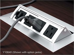 Custom Power Module W Power Outlets Open Ports - Conference table power module with hdmi