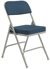 "Deluxe 2"" Padded Box Seat Folding Chair"