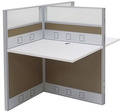 "36""W x 50""D x 48""H Premium Series Double Add-On Carrel"