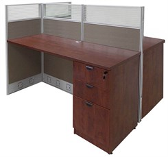 60�W x 49�D x 48�H Value Series Double Add-On Cubicle
