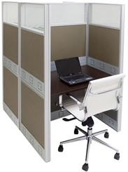 "36""W x 50""D x 67""H Premium Series Double Starter Carrel"