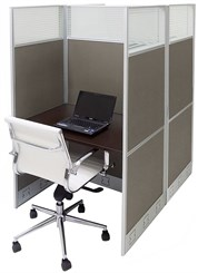 "36""W x 49""D x 67""H Value Series Double Starter Carrel"